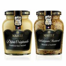 Maille Mustard Jar Wholegrain & Dijon Original 6Pk