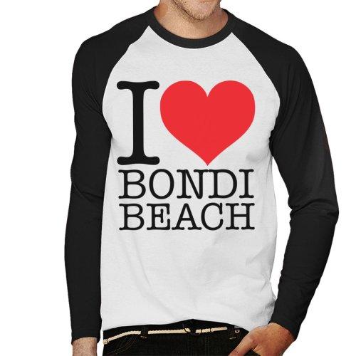 I Love Bondi Beach Men's Baseball Long Sleeved T-Shirt