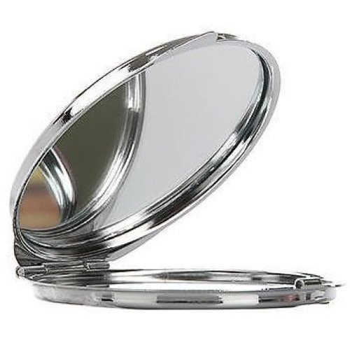 Technic Round Metal Compact Mirror