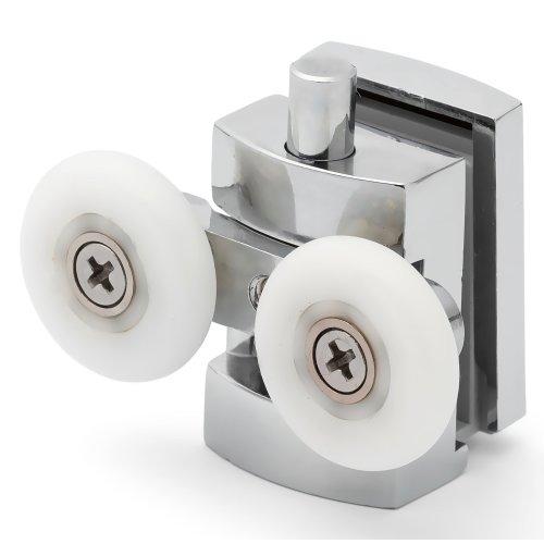 2 x Twin Bottom Zinc Alloy Shower Door Rollers/Runners/Spares 23mm Wheel Diameter L101