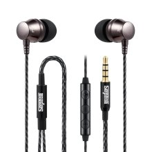 Sephia SP9090 Earphones Metal Headphones with Bass Driven Sound for iPhone, iPad, iPod, MP3 Players, Samsung Smartphones and Tablets (With Volume...