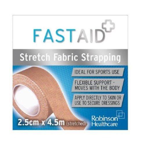 Fast Aid Stretch Fabric Strapping Bandage 2.5cm x 4.5m