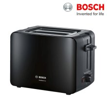 Bosch TAT6A113GB Comfortline Compact Toaster 1090W with Auto-Shut Off Black - Refurbished