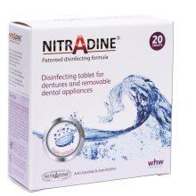 Nitradine - Tablets for Cleaning & Disinfecting Dentures & Orthodontic Dental Appliances