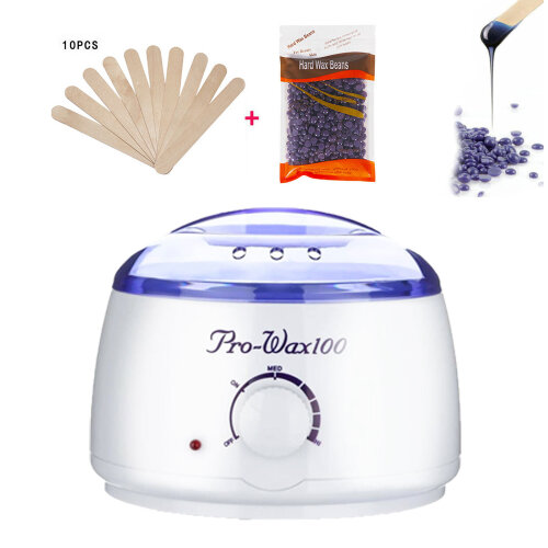 Pro Waxing Kit Wax Heater Pot Warmer Hair Removal Machine Wax Beans