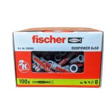 Fischer 538240 Duopower 6mmx50mm Box Of 100