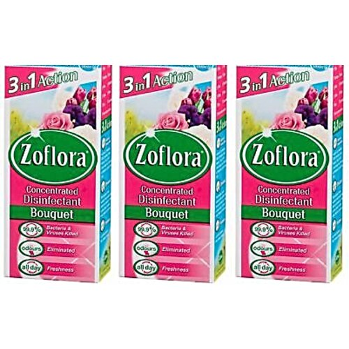 3 PCS ZOFLORA CONCENTRATED DISINFECTANT 120ML BOUQUET 3 IN 1 ANTI BACTERIAL