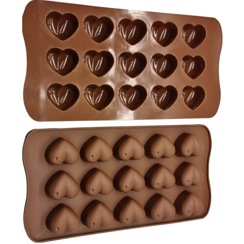 Heart Shape Silicone Chocolate Mould