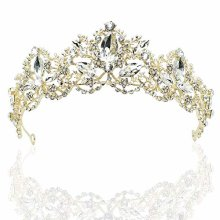 Exacoo Crystal Bridal Crowns Tiaras Prom Queen Crown Rhinestone Pageant Crowns Princess Crown For Women Girls