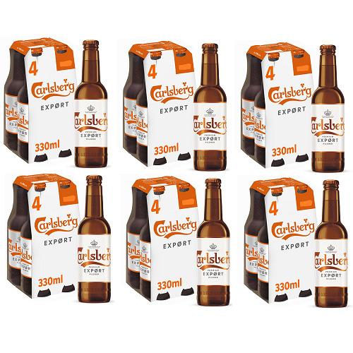 Carlsberg Premium Export Pilsner 6x4pk 330ml=24 Bottle BesBef 04.08.21