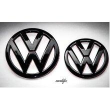 Modifix - VW SCIROCCO III BLACK GLOSS FRONT & REAR EMBLEM BADGE R LINE GTD GTI