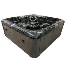 Hot Tub Master 5 Seat 32 Amp Black Stream Spa Black Shell Grey Sides
