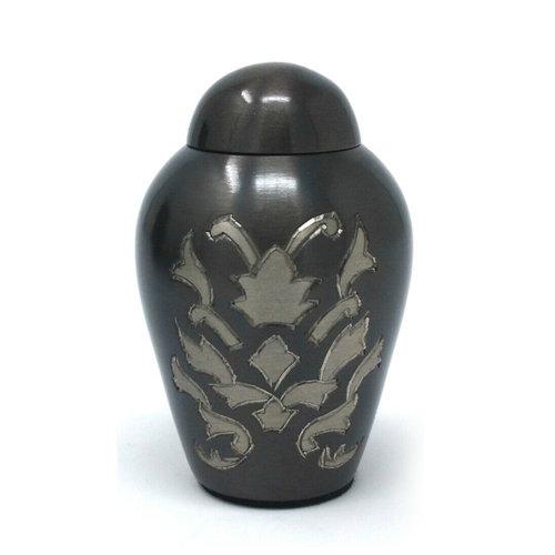Beautiful Small Windsor Floral Engraved Dome Top Keepsake Memorial Urn