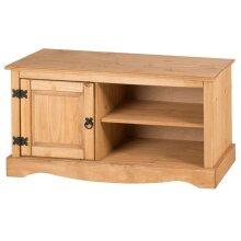Corona TV Unit 1 Door Media TV Stand Cabinet Solid Pine Furniture