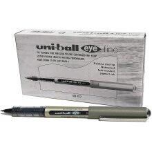 uni-ball uniball-Eye Fine Rollerball Pen UB-157 Liquid Ink - Black Pack 12