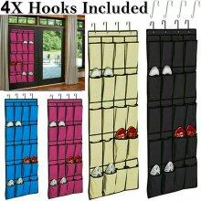 20 Pocket Hanging Over Door Shoe Organiser Storage