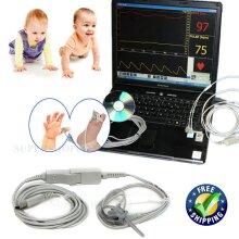 CMS-PN  PC based finger pulse oximeter bundled infant spo2 probe software USB port