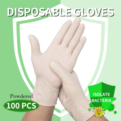 100Pcs Disposable Gloves Powdered Protection