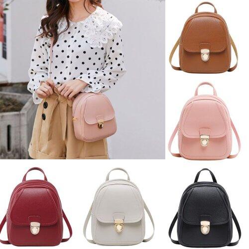Mini Backpack PU Leather Rucksack Shoulder Bags