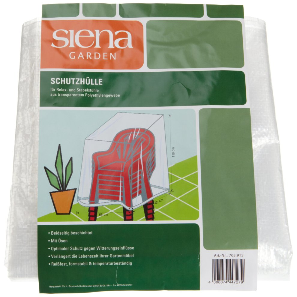 Fun Star Standard Protective Cover for Chairs And Loungers Polyethylene Flat-Weave Fabric Transparent