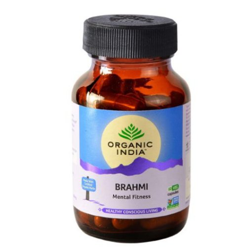 3 Bottles ORGANIC INDIA Brahmi Capsules, 60 pcs Bottle
