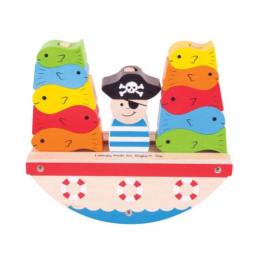 Bigjigs Toys Rocking Pirate Boat