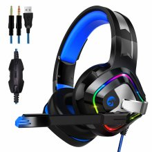 for PS4 PC Gaming Headset, Surround Sound  with Noise Cancelling Mic