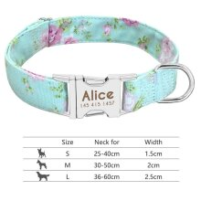 nylon-dog-collar-personalized-pet-collar-engraved-id-tag-nameplate-reflective-for-small-medium-large-dogs-pitbull-pug 011-Green
