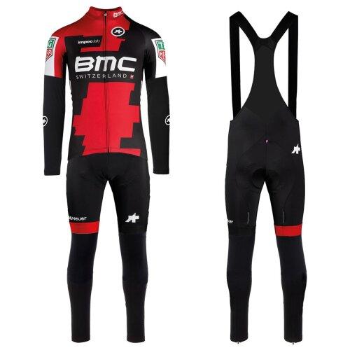 2017 BMC Racing Team Long Sleeve Cycling Jersey And Bib Pants Set