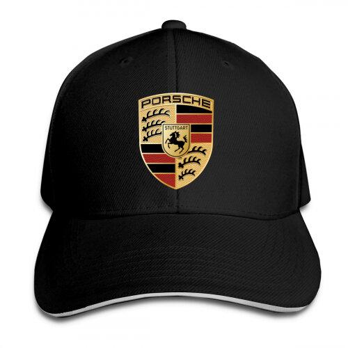 Adjustable Unisex Porsche Baseball Cap - Black