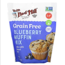 Bob's Red Mill, Grain Free, Blueberry Muffin Mix, Almond Flour