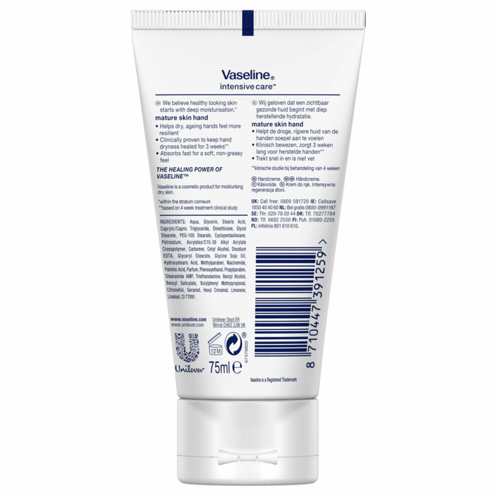 Vaseline Intensive Care Mature Skin Rejuvenation Hand Cream, 75ml
