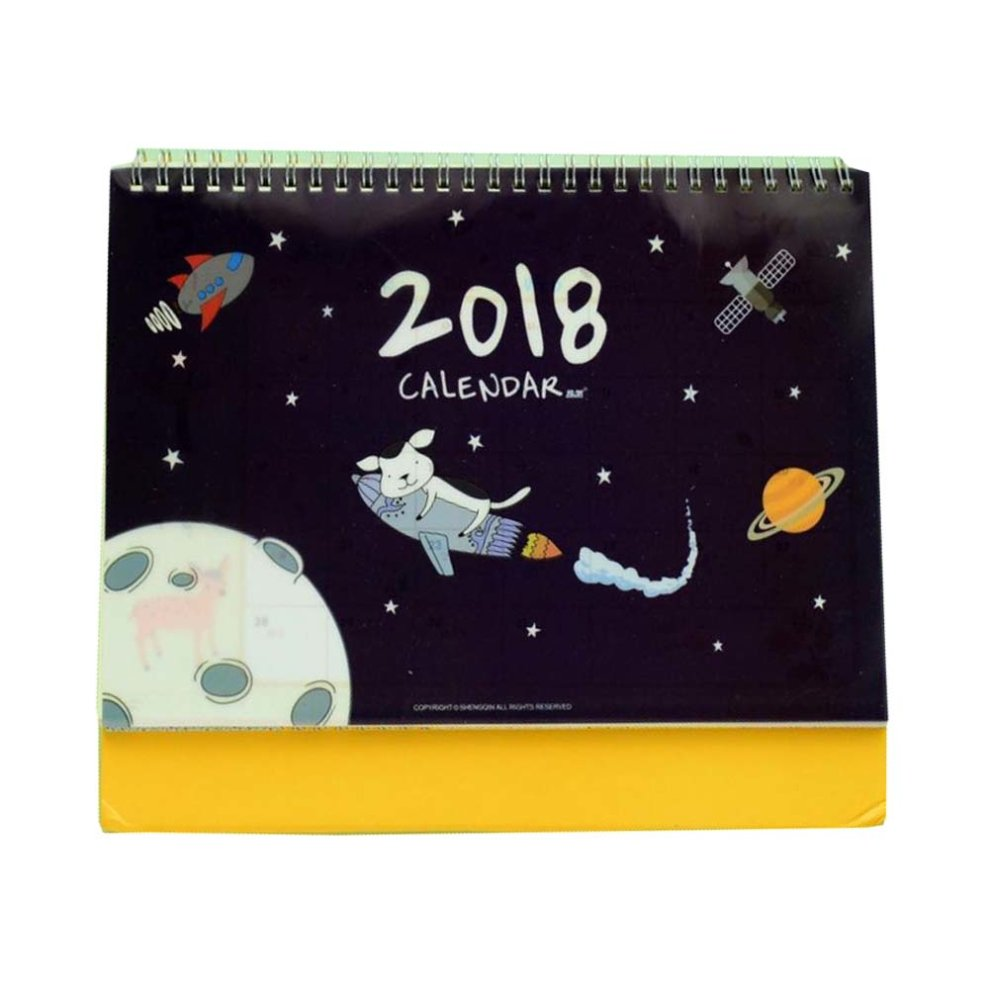 Funny Cartoon 2018 Student Children Desk Calendar Portable And Lightweight On Onbuy