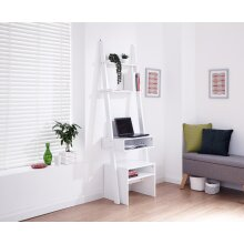 Ladder Shelving - 3 Tier, 5 Tier, Bookcase, Desk and Stool - Grey or White