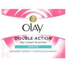 Olay Double Action Moisturiser Day Sensitive Cream and Primer, 50 ml