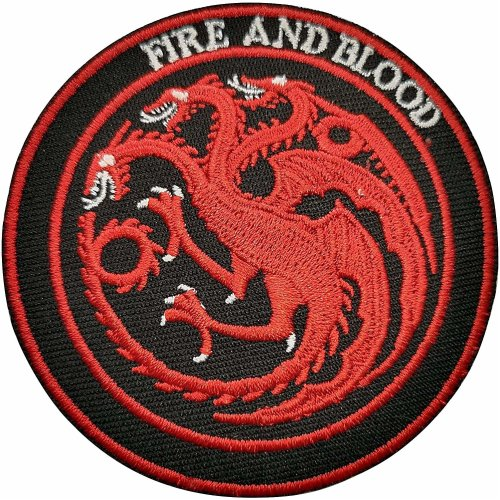Game Of Thrones Embroidered Cloth Iron On Patch