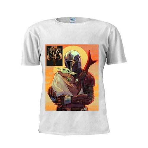 Baby Yoda Tee Artwork Mandalorian Star Wars Men T Shirt