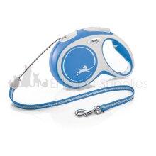 Flexi New Dog Lead Comfort MEDIUM CORD 8m - BLUE