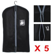 5x Breathable Garment Suit Covers Clothes Dress Carrier Bag Zipper
