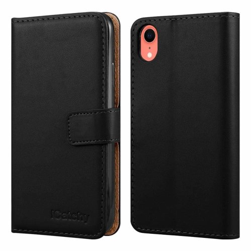For iPhone XR Leather Wallet Flip Case Cover