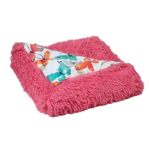 Sun Yin T1707096-SY-BTFY 50 x 60 in. Butterfly Novelty Printed Velvet Plush to Faux Fur Throw