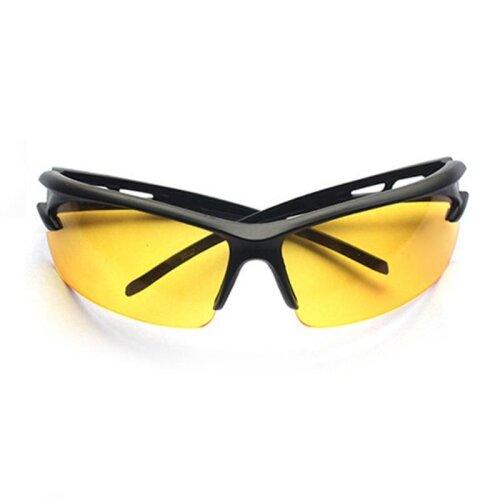(Yellow, One Size) Professional Cycling Sunglasses