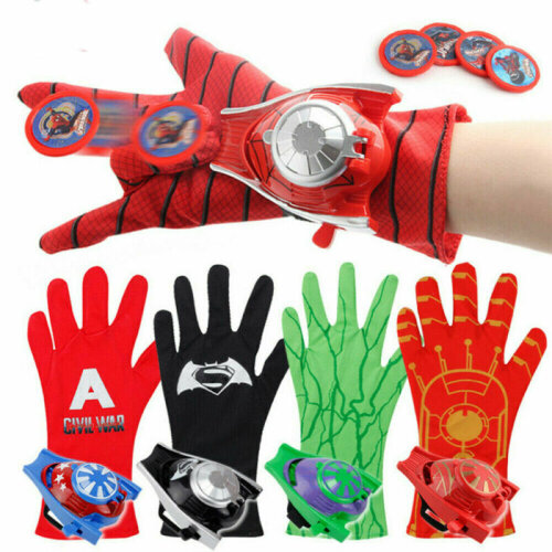 Marvel Avengers Superhero Launchers Gloves Spiderman Kids Toy Cosplay Game Props