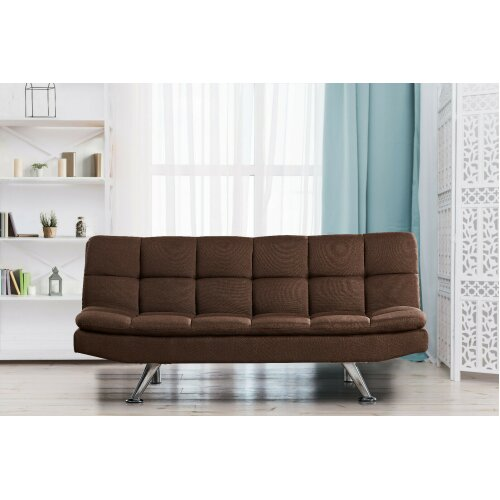 Oakland Sofa Bed On, Brown Material Sofa Bed