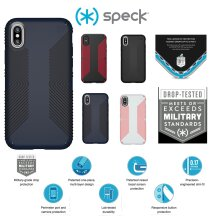 Speck Presidio Grip Protective Grip Ultra Thin Slim Hardshell Anti Scratch Cover Case For Apple iPhone X / iPhone XS