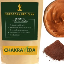 Moroccan Red Clay, 100% Natural, Best for Skin, 100g by ChakraVeda
