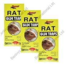 6 X Tomcat Large Rat Sticky Glue Traps Boards