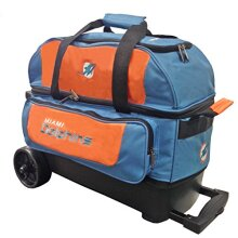 KR Strikeforce Miami Dolphins Double Roller Bowling Bag