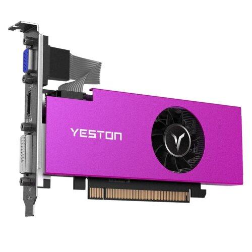 (As Seen on Image) Yeston Radeon RX550 4GB GDDR5 PCI Express 3.0 DirectX12 Single Slot Graphics Card
