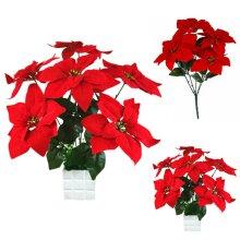 Christmas Artifical Flowers Poinsettia Ornaments Home Wedding Xmas Decoration